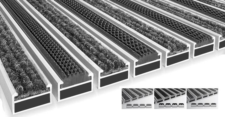 Felpudos metalicos de entrada alfombras de aluminio entrada - Felpudos a medida ...